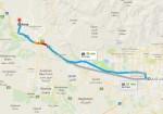 فاصله تهران تا کرج - تهران کرج - فاصله کرج تا تهران - نقشه راههای کرج - فاصله کرج تهران