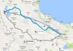 فاصله تهران تا ارومیه,تهران ارومیه,تهران به ارومیه,نقشه راه های ایران,جاده های ایران,ارومیه تهران